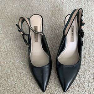 Zara Black Bow Pumps